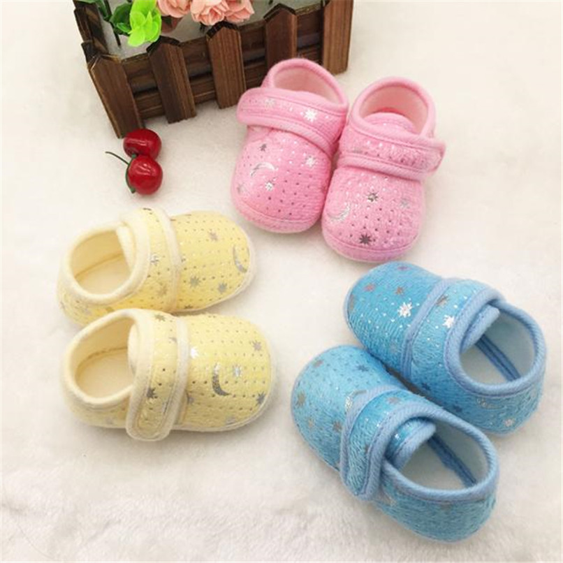 Newborn Girl Shoes Starry Sky Printed Toddler Anti-Slip Soft Baby Shoes NDA84L17