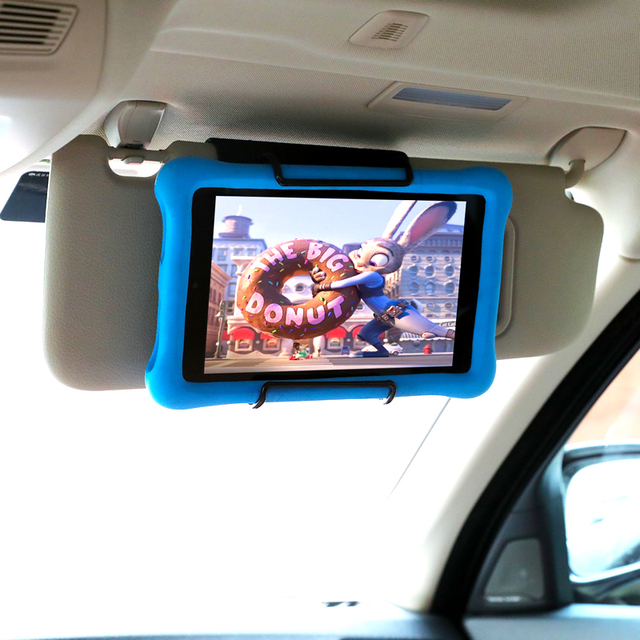 Tablet Visor Mount Holder for All 7 to 11 Inch Tablets / Visor Tablet Holder for iPad, iPad mini, iPad Air, Kindle Fire Tablets