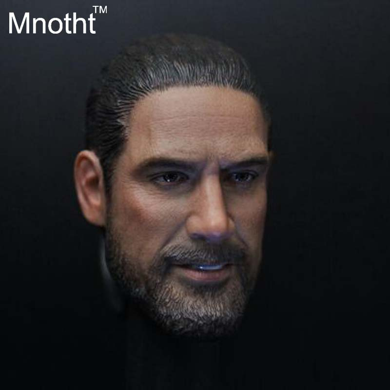 Burning the soul of 1/6 Negan head Carving The Walking Dead Soldier Head Carving for 12 Figure Doll Toys Gifts xeltek private seat tqfp64 ta050 b006 burning test
