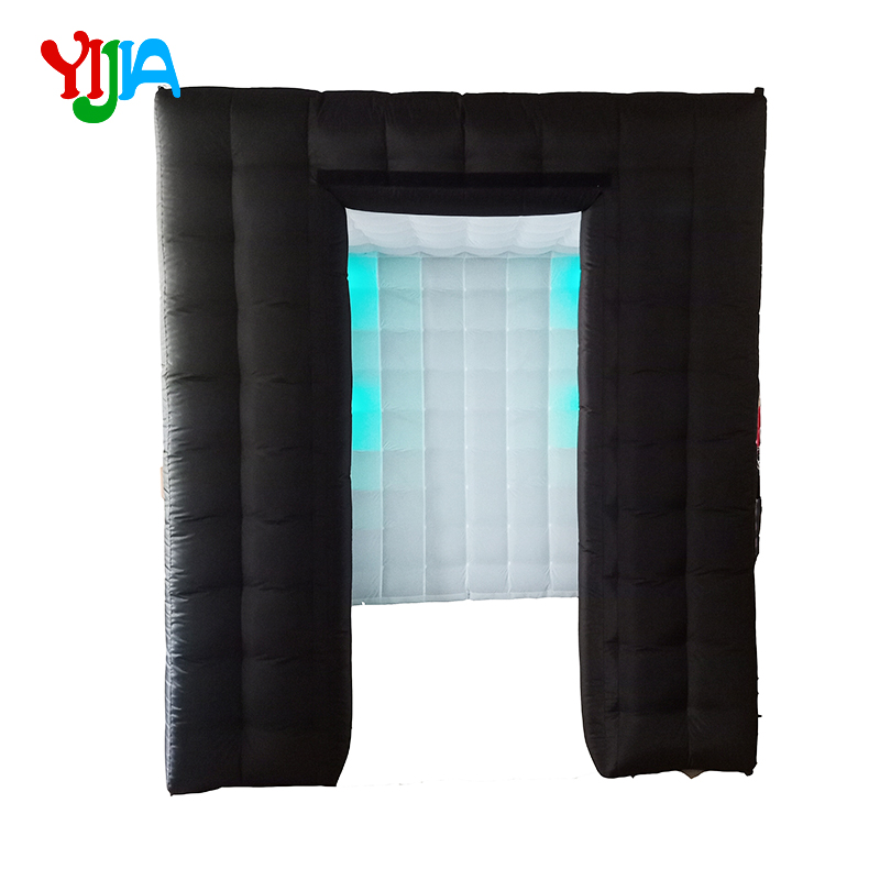 2 25M Two Entrance Nice Cabin With Multi Color Changing LED lights Inner Air blower Inflatable Photo Booth for Wedding Party in Party Backdrops from Home Garden