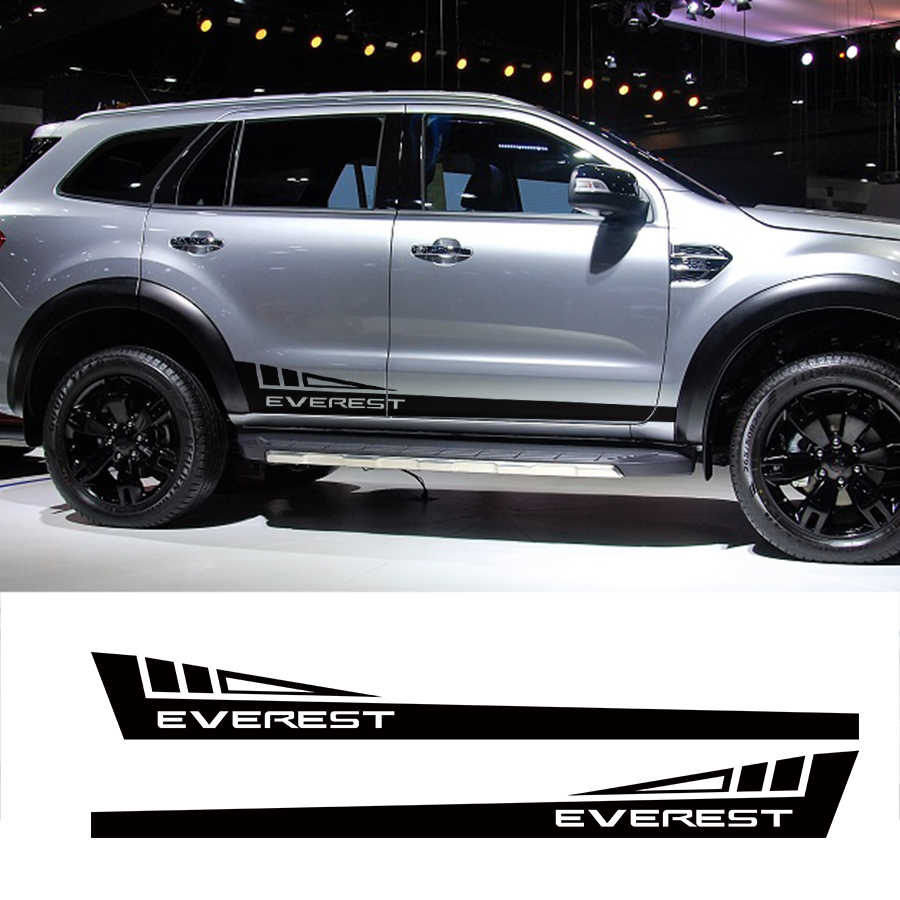 Custom Car Stickers 2pc Side Door Panel Stripe Triangle Graphic Vinyl Car Accessories Decals Ford Everest Endeavour 2015 2018