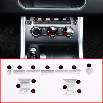 13pcs For Range Rover Vogue 2013-2017 Car Air Conditioning Button Patch Trim For Range Rover Sport 2014-2017 Accessories