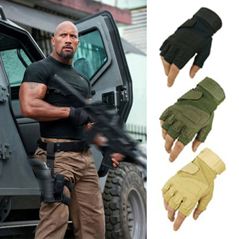 Blackhawk tactical gloves USA hell storm special forces slip mountaineering fitness outside fighting half- finger Leather gloves fitness gloves summer sun gloves riding sports black hawk military tactical cs special forces leather semi fingertips