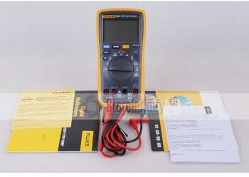 Fluke 18B + LED AC/DC Napięcie Prądu Cyfrowy Multimetr + Przetwornik AC Miernik Cęgów Amperowych