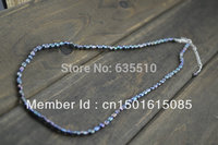 Grey Color Fresh Water Pearl Rice Beads Necklace 925 Sterling Silver Lobster Clasp And Silver Extender
