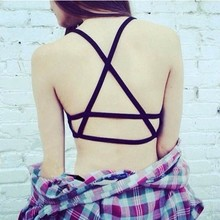 Caged Back Crop Top