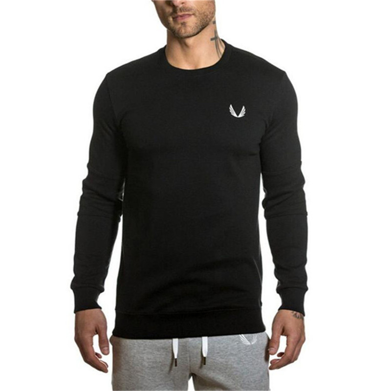 Men Autumn Winter cotton pullover Fashion Casual sportswear gyms Fitness Hoodies male Brand Long sleeves Sweatshirts clothing