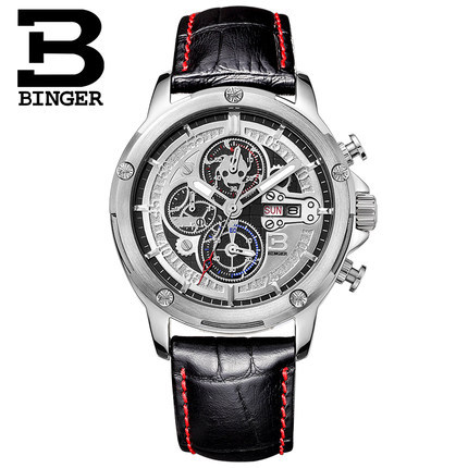 где купить  Black casual fashion Binger watches mens luxury brand analog sports military watch high quality quartz Wristwatch Free Shipping  по лучшей цене