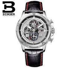 Черный повседневная мода Бингер часы мужские luxury brand аналоговый спорт военная часы высокое качество кварцевые Наручные Часы Бесплатная Доставка