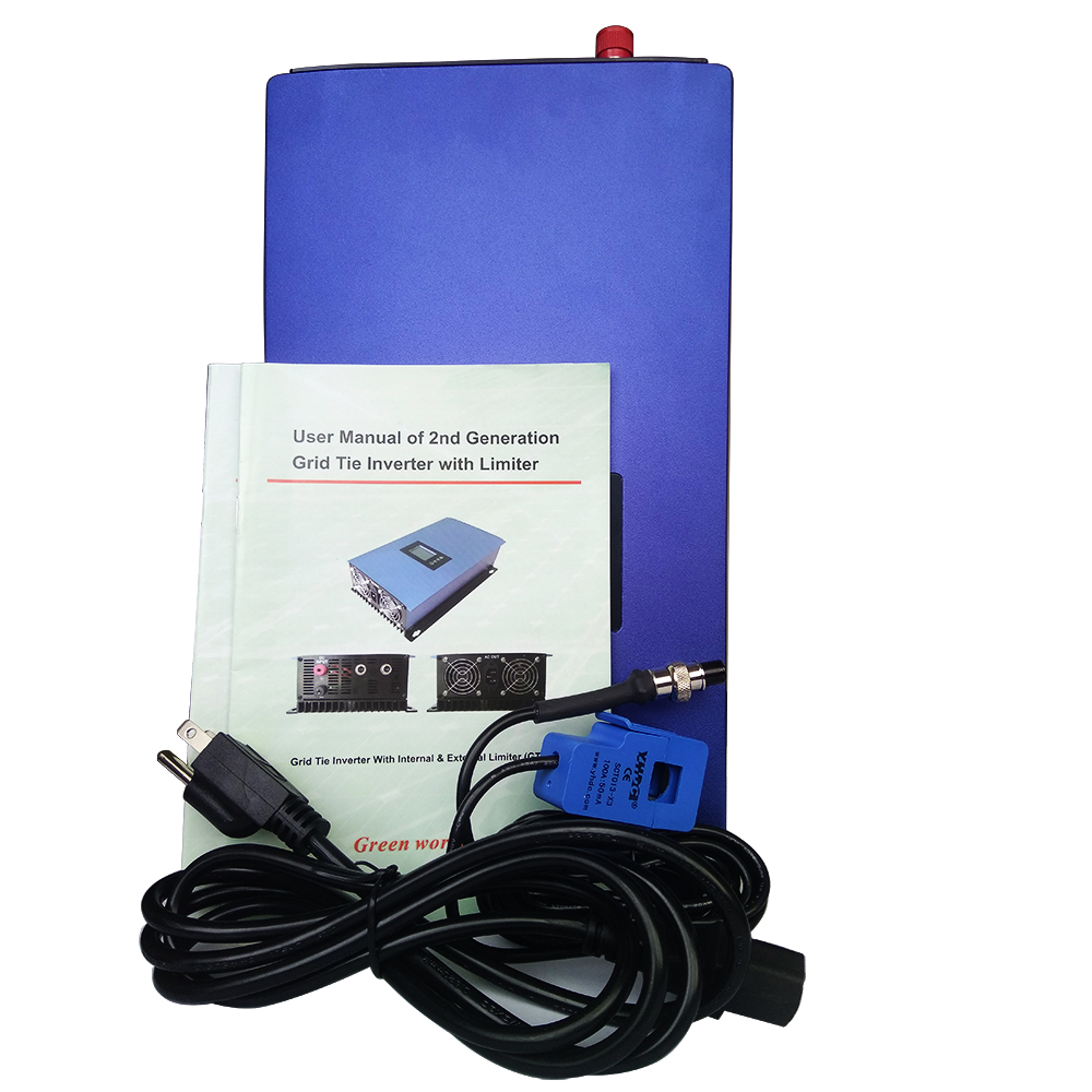 MAYLAR 1000W MPPT Solar Grid Tie Inverter Mit Limiter Sensor DC 45-90V AC 110V 120V Für PV Verbunden Reine Sinus-wechselrichter