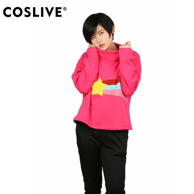 coslive mabel pines hoodie red sweatshirt ladys high neck pullover gravity falls cosplay costume