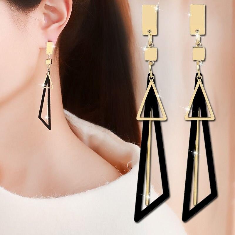 Hot Sale Earrings Metal Trendy Geometric Women Dangle Earrings Fashion Jewelry 2018