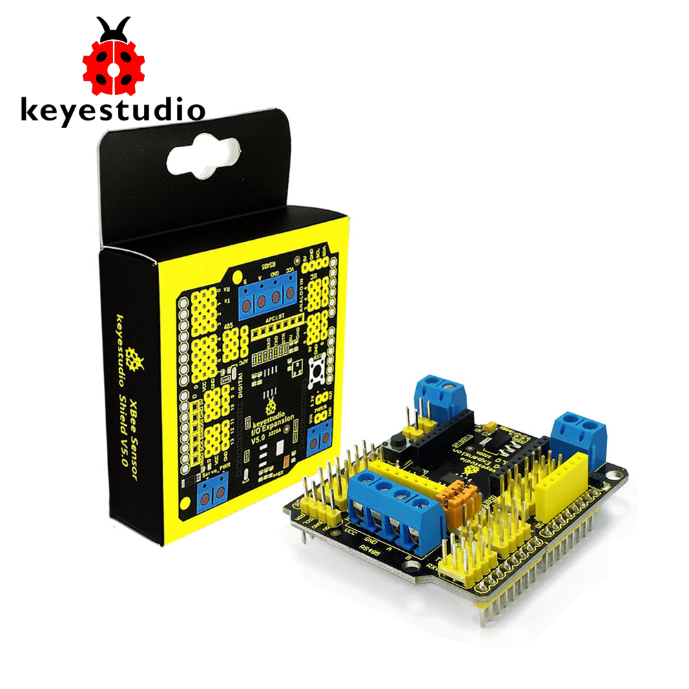Free shipping! Keyestudio Xbee Sensor Expansion Shield V5 with RS485 Bluebee Interface for Arduino robot car