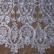 ФОТО new off white/ black/beige roboinon  netting embroidered wedding/ evinging/show dress lace fabric 51'' width by the yard