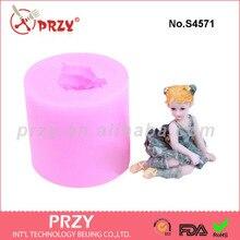 Танцующая Девушка силикона прессформы мыла DIY пищевой силиконовые формы силиконовой резины мыло плесень