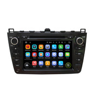 Hot Sale 8Inch Android4 4 4 Dual Quad Core Black Car DVD Player For Mazda6 Ultra