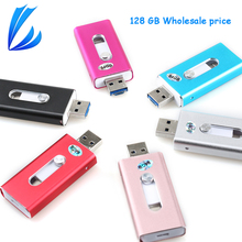 LL TRADER 5Pcs/Lot 128GB Storage USB iOS Flash Drive For iPhone iPad iPod Android Pendrive USB 2.0 Flash Drive Disk OTG Memory
