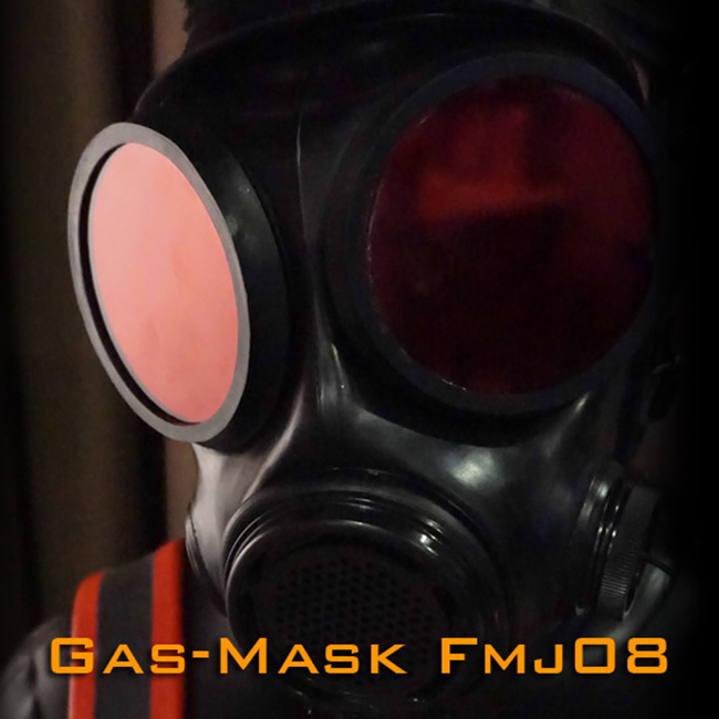 FMJ08 1 Luxury Customize Handmade Latex Rubber Gas Mask Fetish Wear