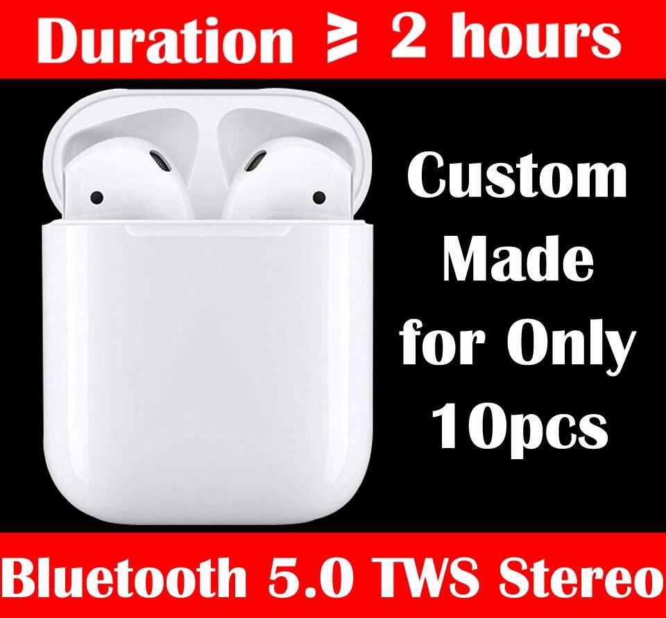 10 pièces Custom Made i9 i12, Mini Sans Fil Bluetooth5.0 Stéréo TWS Écouteurs Casque Écouteurs, la Batterie en Temps réel Statut, Gratuite Livraison