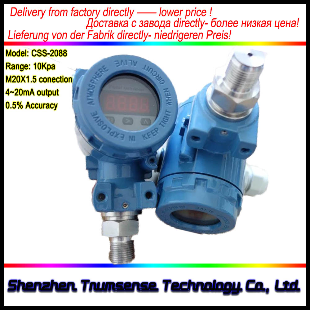 1 Piece Intelligent Imported Diffused Silicon Pressure Transducer 2088 Housing Type Pressure Transmitter 4 to 20mA High Accuracy in Pressure Sensors from Tools