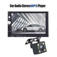 Bluetooth 7 2 DIN Car Radio Audio Stereo Player FM Function Steering Wheel Remote Control Car