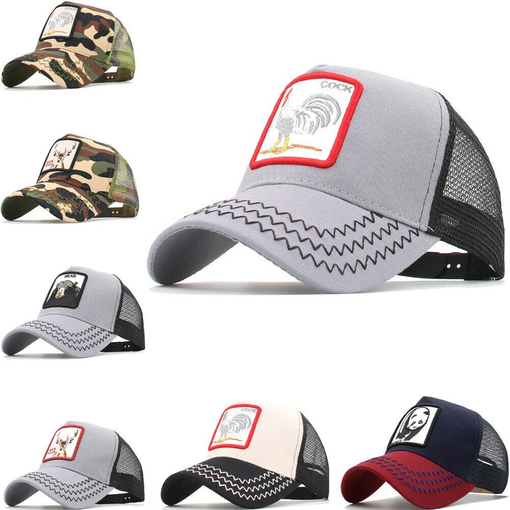 Unisex Hat Men Women Animal Pattern Adjustable Snapback Baseball Trucker Cap Sport NEW