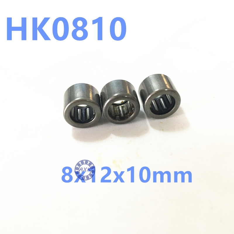 HK0810 Needle Roller Bearing 8x12x10 TLA810Z HK810 for 8mm shaft 0 25mm 540 needle skin maintenance painless micro needle therapy roller black red