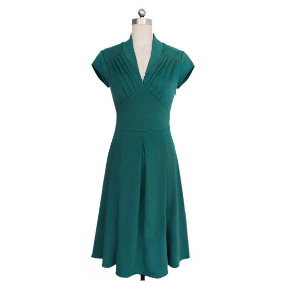 Free Shipping Sexy Lady A Line Dress V Neck Party Elegant Dress ...