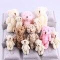 10 Pçs/lote Alta Qualidade Super Kawaii Bonito Encantador Urso de Pelúcia Brinquedos & Stuffed Dolls Decoração de Casamento DIY Acessórios