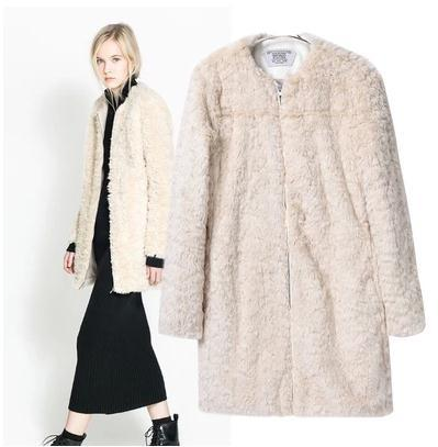 Images of Faux Fur Coats For Women - Reikian