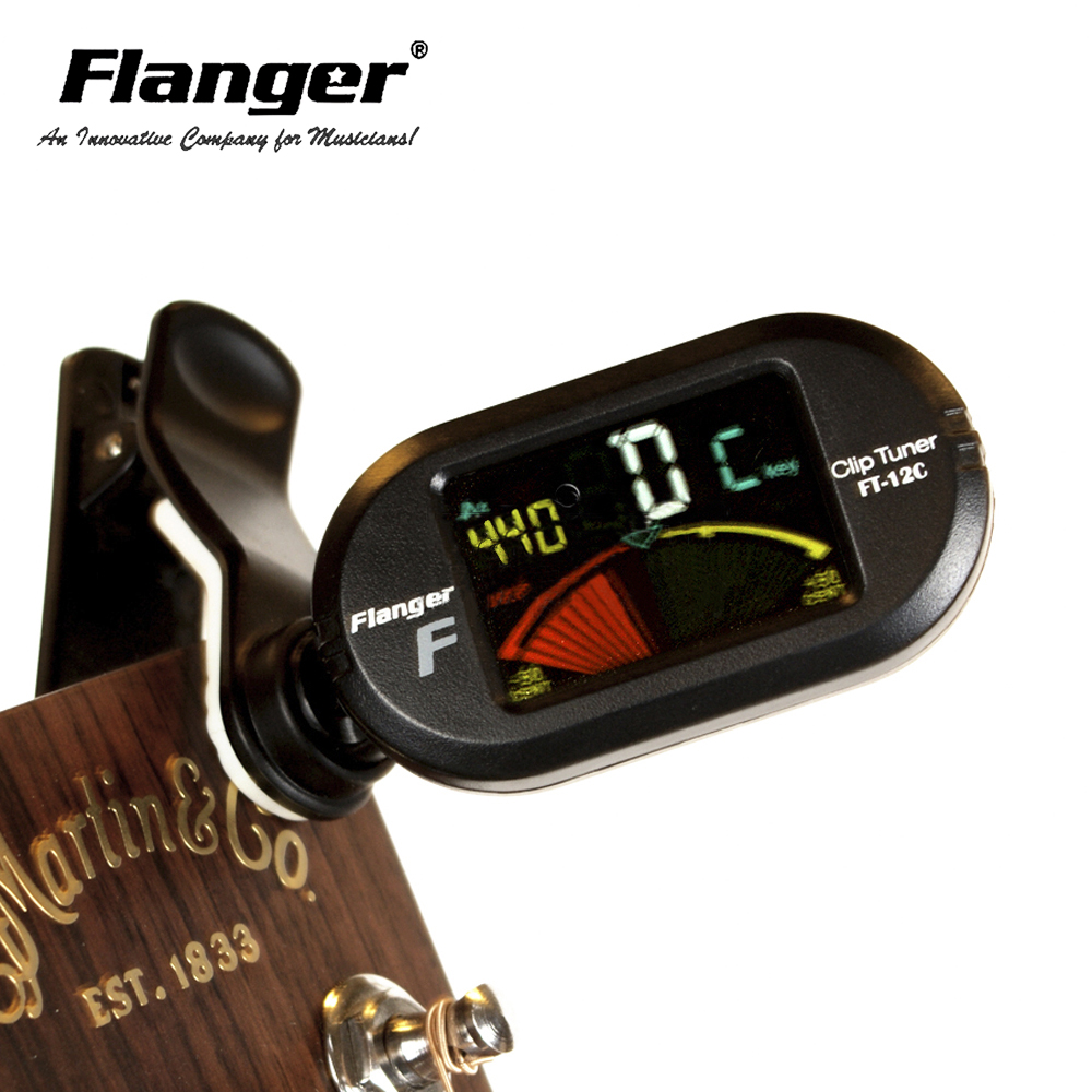 New Arrival Flanger Chromatic Acoustic Guitar Bass Tuner Universal Automatic Wind Afinador Instrument Clip-On Tunner