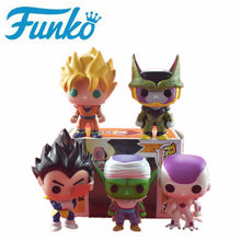 FUNKO POP Dragon Ball Sun Wukong Vegeta Saroo Bic Freeza Action Figure Super Image Pop Doll PVC Toy Children's Birthday Gift(China)