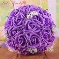 Wdz-278 красочный Buque де Noiva смешанные цвета чп роуз декор букет невесты свадьба рамос Novia 6 Colores букет мантия-де-mariage