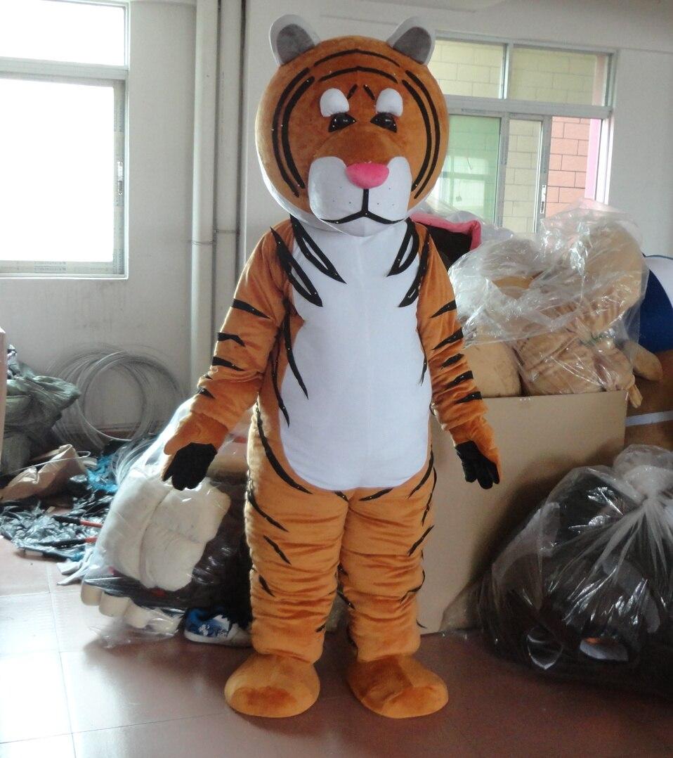 Costume de mascotte de tigre de sibérie pour adulte Costume de mascotte de fête costume de mascotte de noël adulte