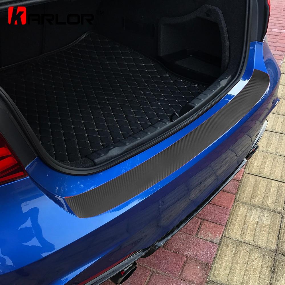 Universal 3D Carbon Fiber Car Rear Bumper Trunk Tail Lip Protector Decal Sticker