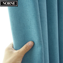 NORNE Faux Linen Solid Color Blackout Curtains for Living Room Modern Curtain for the Bedroom Drapes Blinds for Custom Made norne 30