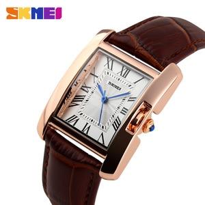 Image 5 - SKMEI מותג נשים שעונים אופנה מקרית קוורץ שעון עמיד למים עור גבירותיי יד שעונים שעון נשים Relogio Feminino