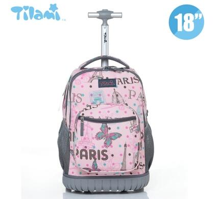 96e9f63c2bca US $55.47 14% OFF|Kids Rolling Luggage Backpacks Kid School Backpacks with  wheels kid suitcase children luggage Wheeled backpacks bag for school-in ...