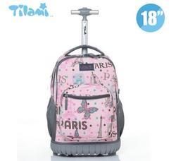 Kinderen Rollende Bagage Rugzakken Kid School Rugzakken met wielen kid koffer kinderen bagage Wielen rugzakken tas voor school