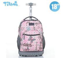Plecaki szkolne dla dzieci plecaki szkolne dla dzieci z kółkami walizki dla dzieci bagaż dla dzieci plecaki na kółkach torba do szkoły tanie tanio ZIRANYU Nylon zipper Stałe Dziewczyny 21cm Torba na kółkach 2 2kg 32cm Torby szkolne 46cm