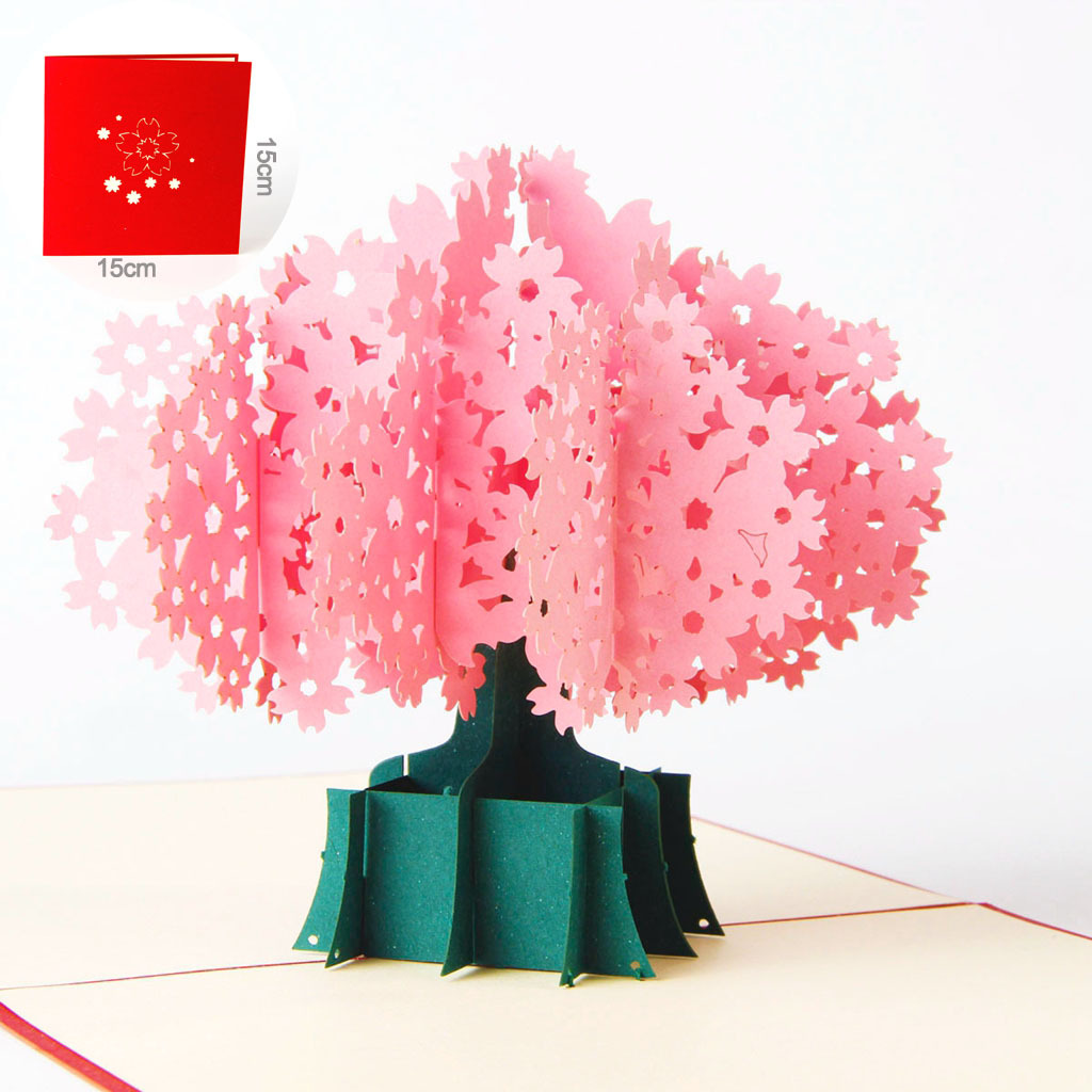 1 Pc 3d Stereo Flower Greeting Cards Free Shipping Flowers Birthday