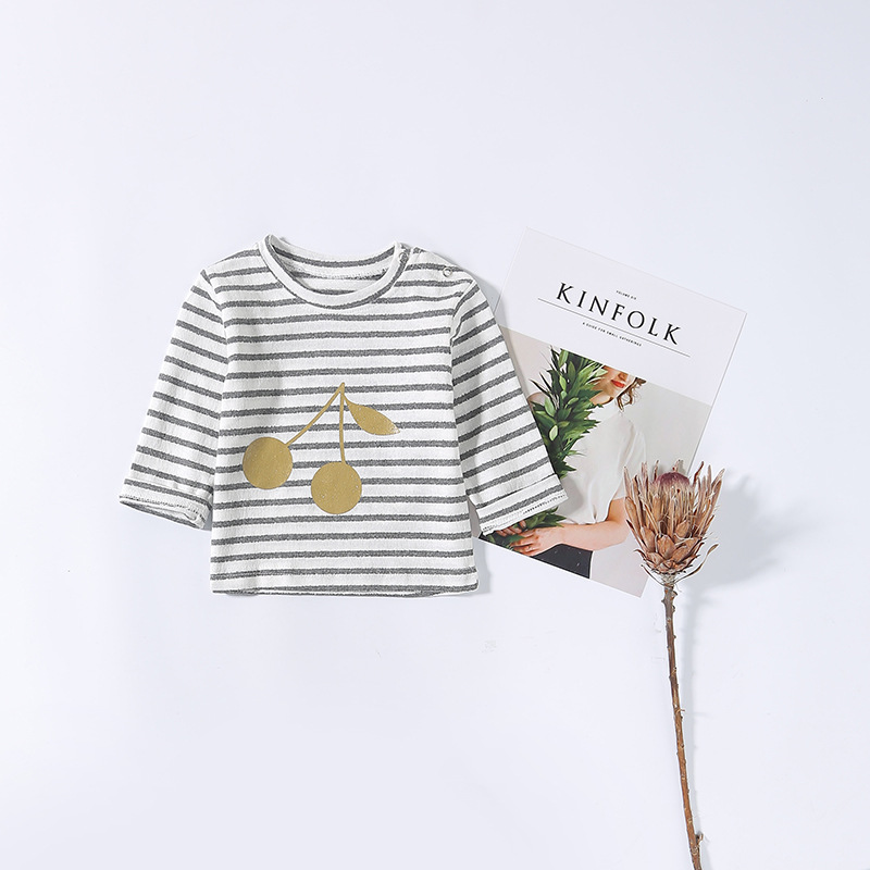 2019 spring and autumn newborn 0 36 months shirt baby cotton bottoming shirt children 39 s T shirt men and women baby print T shirt in Tees from Mother amp Kids