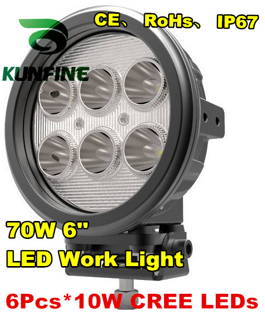 New Arrival! 7 60W LED Working Light Spot Flood Lamp Motorcycle Tractor Truck Trailer SUV  Offroads Boat 10-30V 4WD KF-2460 dysc30 20w spot 20w 2000lm suv auto working light