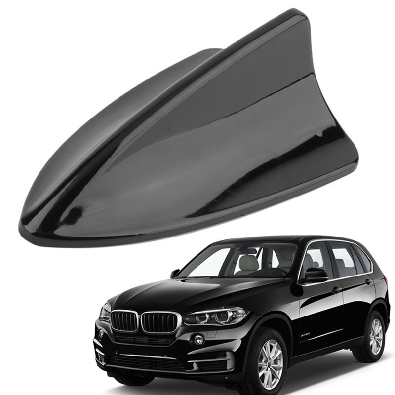 Gray ABS Car Roof Special Radio FM Shark Fin Antenna Aerial Signal Kit For BMW