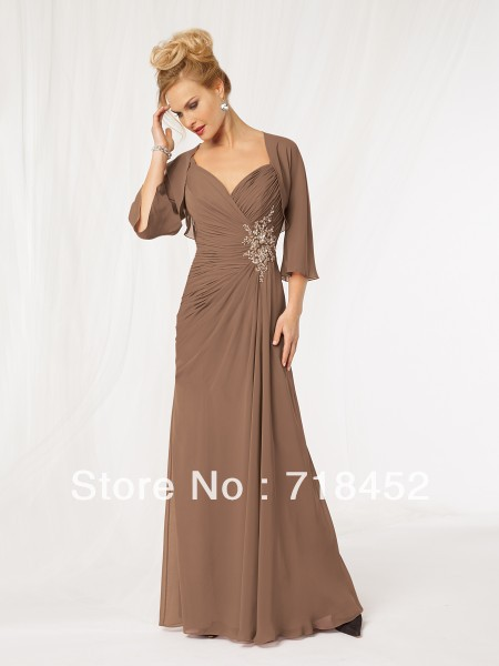 Compare Prices on Chocolate Brown Mother of The Bride Dresses ...
