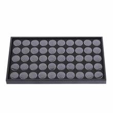 50slots Empty Nail Manicure Storage Box Case Holder Nail Art Tips Jewelry Powder Rhinestones Gems Sticks Container Nail Tools