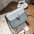 Free shipping, 2017 new woman trend handbags, leisure messenger bag, simple Korean version women bag, fashion chain flap.
