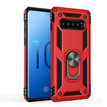 Anti Scratch Armor Bracket Shock Absorption TPU+PC 360° Rotating Case For Samsung galaxy S10 knock Silicone Hard Back