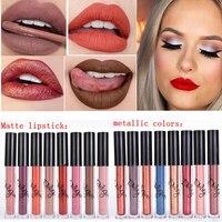 Brand Batom Nude Lipstick Tint for Lips Cosmetics Longwear Not Fade Magic Lip Gloss Matte Metallic Liquid Lipstick Tinte Labbra