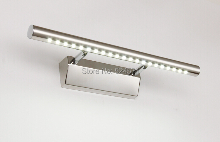 Free Shipping 5W/7W  5050 Warm White/Cold White LED Mirror Front Light Lamp Bathroom Wall Stainless Steel AC85~265V free shipping modern fashion bathroom light three crystals 45cm ac85 265v 9w cool warm white high power led mirror wall light